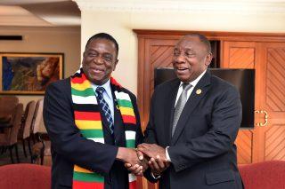 Ramaphosa's envoys arrive in Zimbabwe, to meet with Mnangagwa